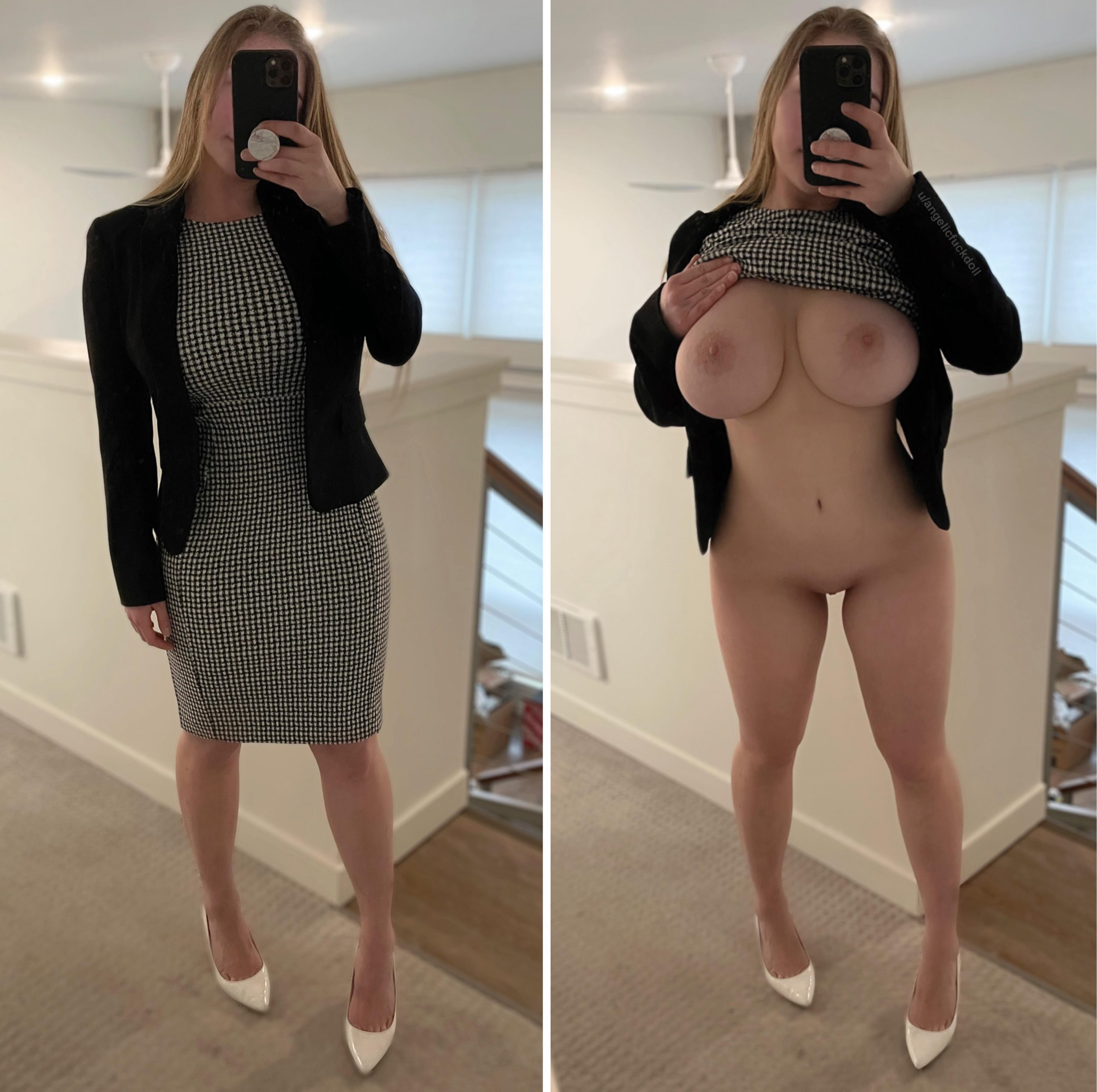 I didn't wear a bra or panties to my interview, I wonder if anyone noticed…