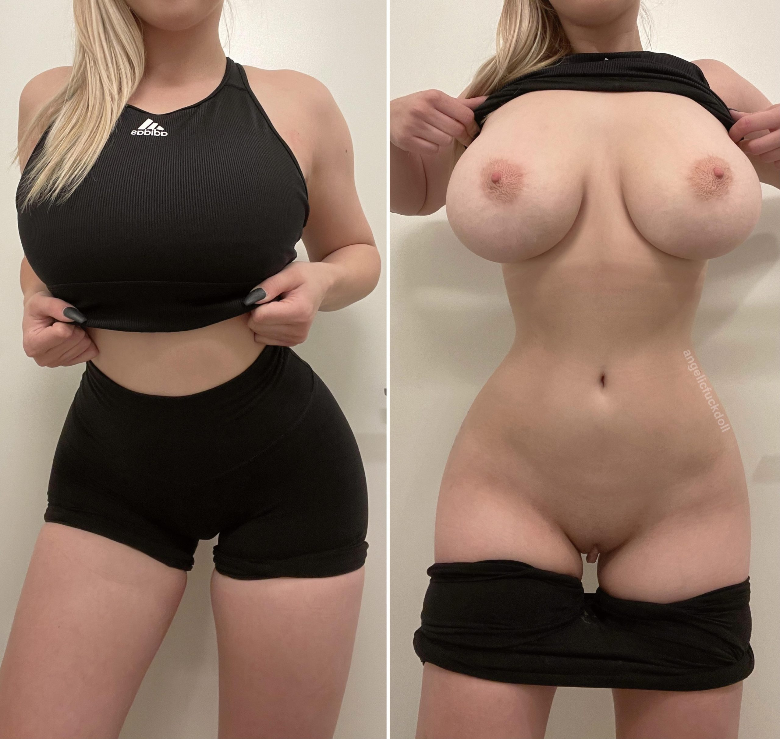 Even a sports bra can't hide these