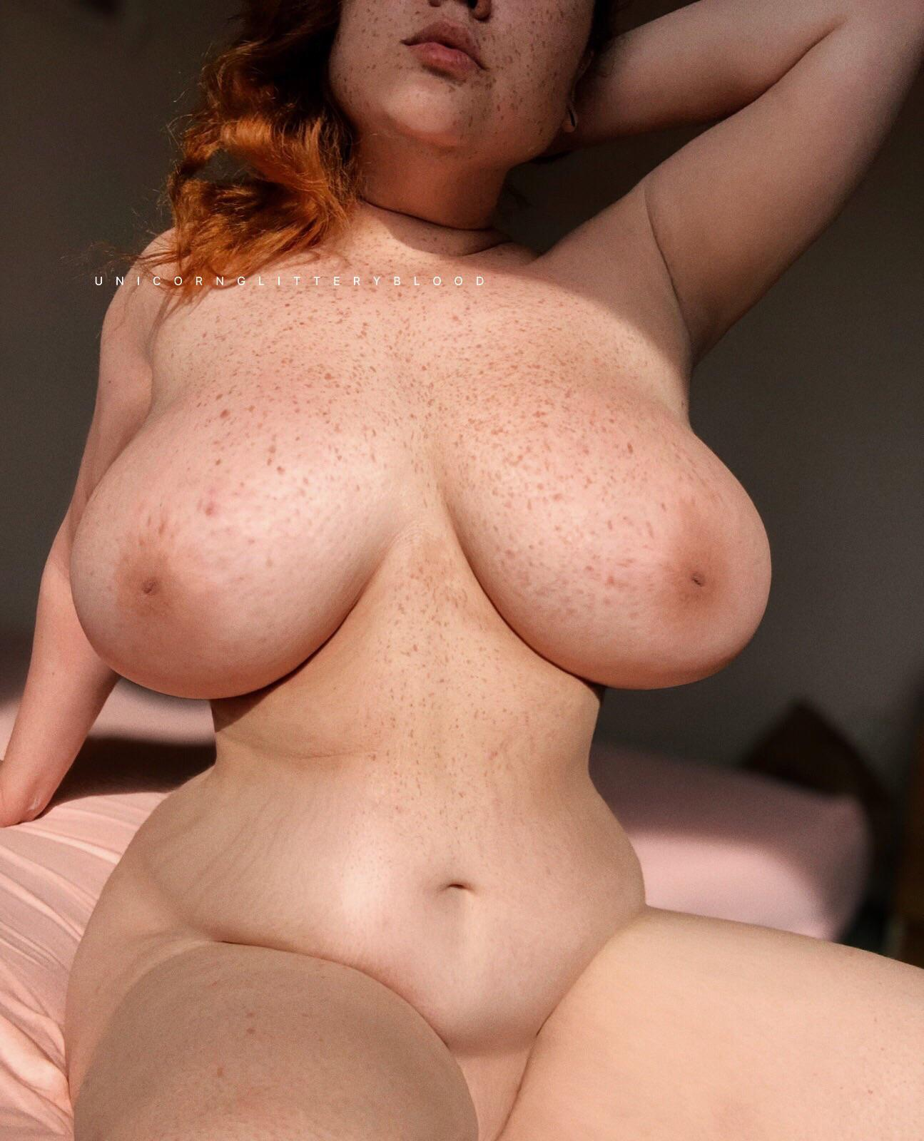 [OC] do you like freckles on huge boobs?